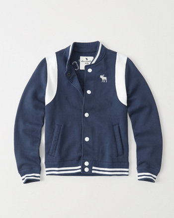 kids varsity fleece jacket