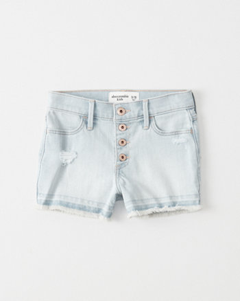 kids High-Rise Ripped Shortie Shorts
