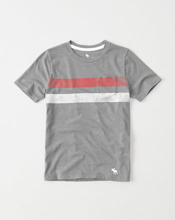 kids Icon Chest Stripe Tee