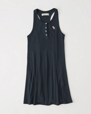 kids Ribbed Henley Dress