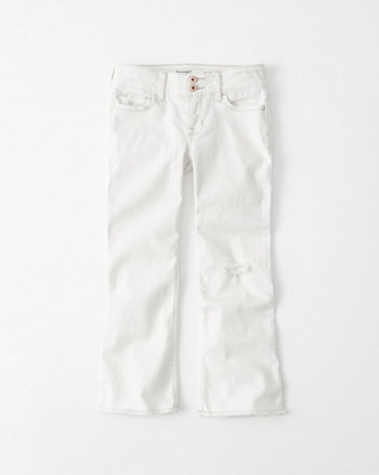 kids Ripped Cropped Flare Jeans
