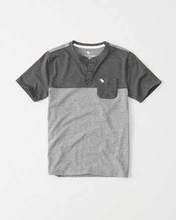 kids Colorblock Henley