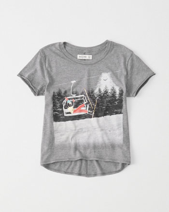kids ski lift graphic tee