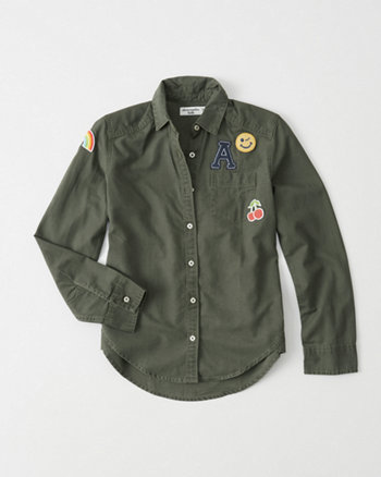 kids Button Down Patch Shirt