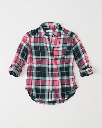 kids Plaid Girlfriend Shirt