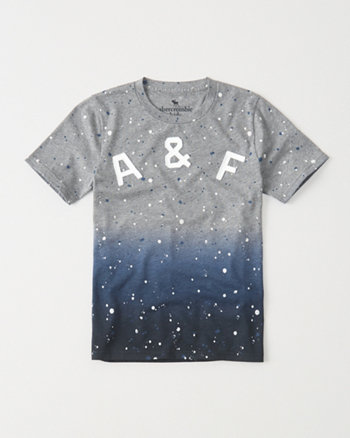 Graphic Dip Effect Tee