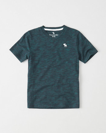 kids Textured Icon V-Neck Tee