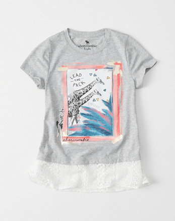 kids Lace Graphic Tee