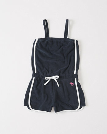 kids Textured Terry Romper