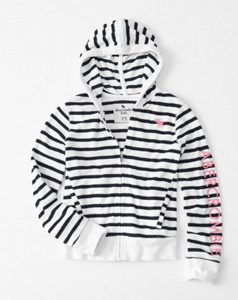 kids Terry Graphic Full-Zip Hoodie