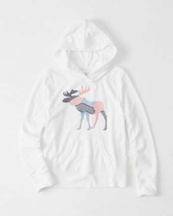 kids Embroidered Terry Hoodie
