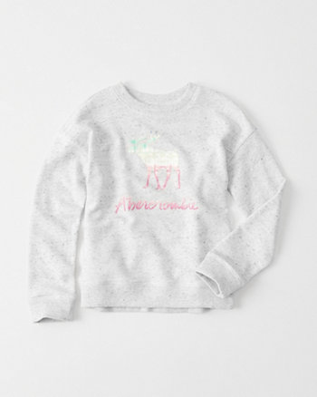 kids Shine Logo Crew Sweatshirt