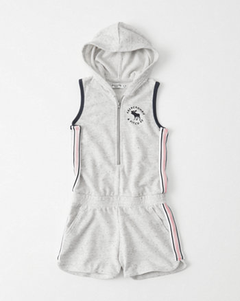 kids Hooded Fleece Romper
