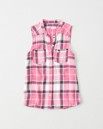 kids Pocket Button-Up Tank