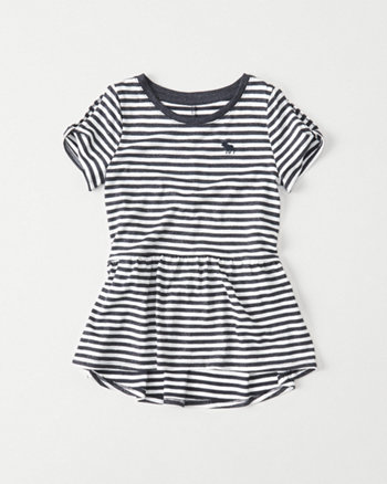 kids Cold-Shoulder Shine Peplum Tee