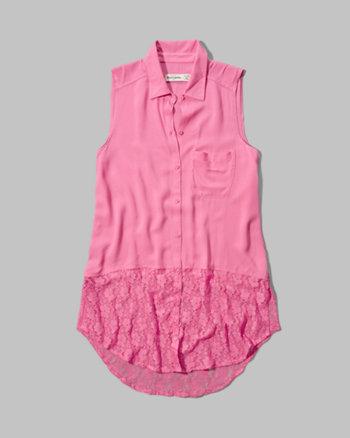 kids lacy sleeveless shirt