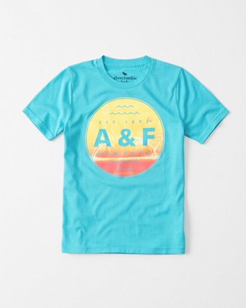 kids Tropical Logo Tee