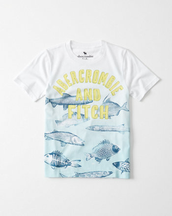 kids Ocean Print Graphic Tee