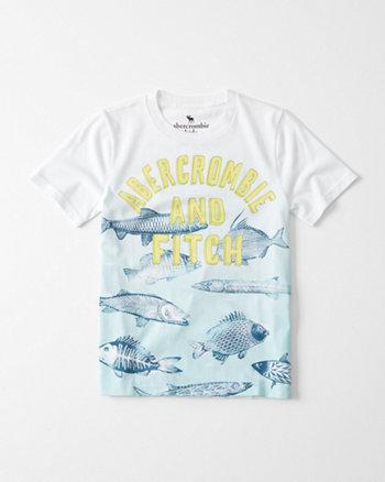 kids Ocean Print Graphic Tee