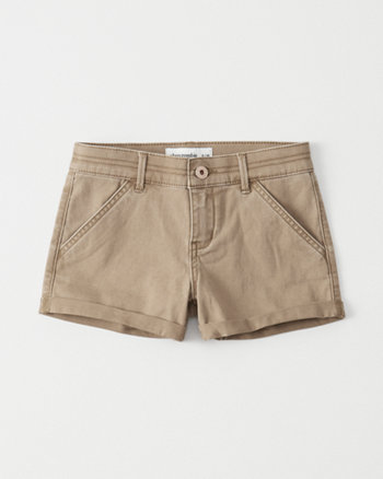 kids Twill Shortie Shorts