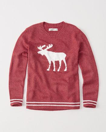 kids intarsia pullover