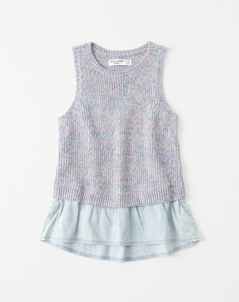 kids Twofer Sweater Tank