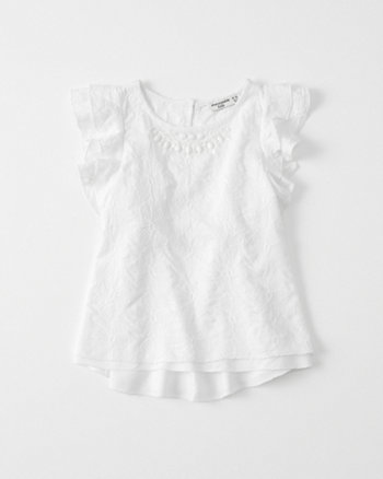 kids Lace Shine Ruffle Tee