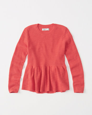 kids Ruffle Hem Sweater