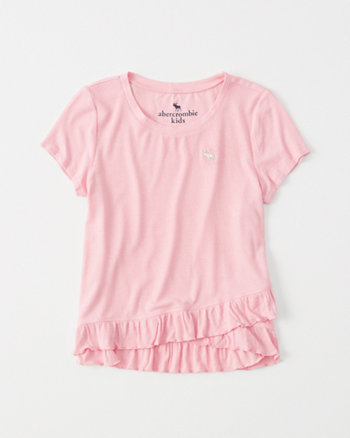 kids Ribbed Ruffle Tee