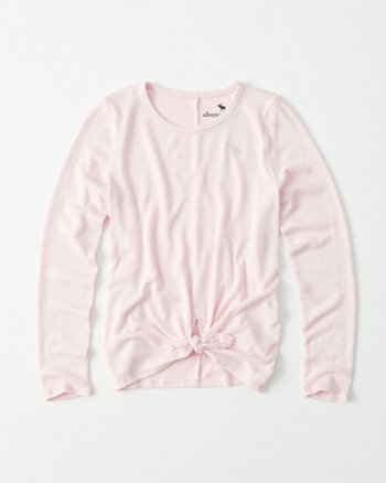 kids Cozy Long-Sleeve Knotted Tee