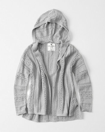 kids Open Stitch Cardigan