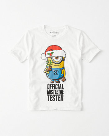 kids holiday minion tee