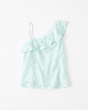 kids One-Shoulder Ruffle Top
