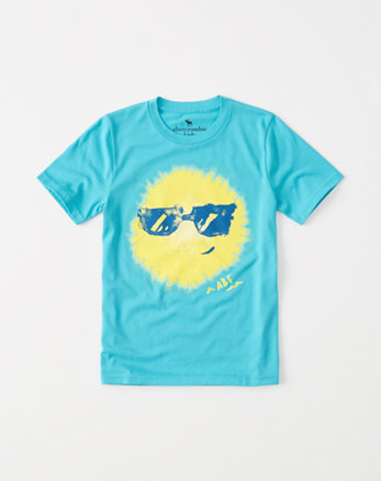kids Summer Print Graphic Tee