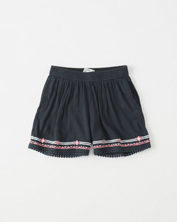 kids Embroidered Shorts