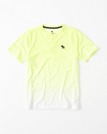 kids Dip Dye Icon Henley