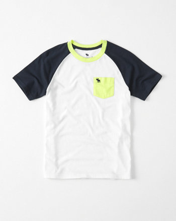 kids Raglan Pocket Crew Tee