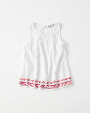 kids Embroidered Racerback Tank