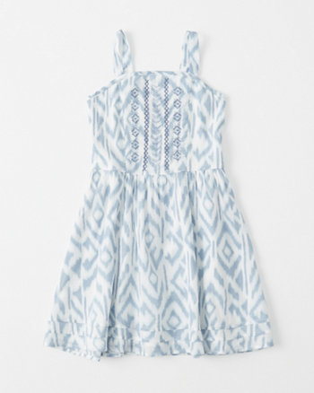 kids Shine Fitted Waist Dress