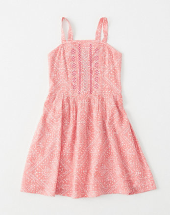 kids Fitted Shine Skater Dress