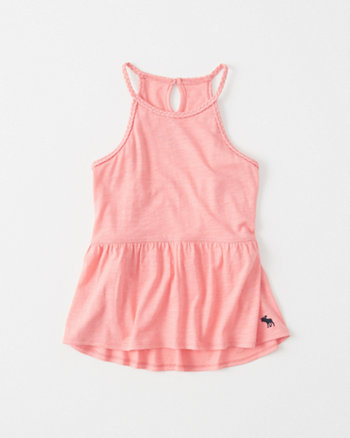kids Braided Peplum Tank