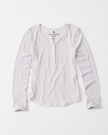 kids Long Sleeve Henley Tee