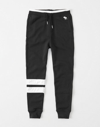 kids Mesh Striped Joggers