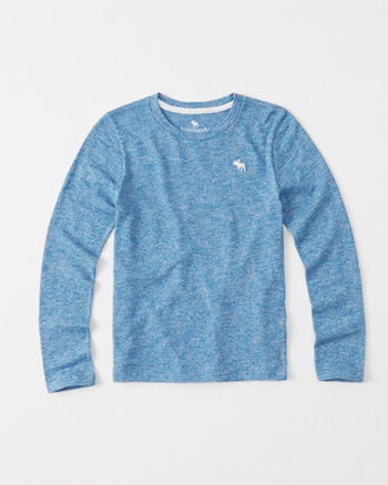 kids Long-Sleeve Sweater Knit Tee