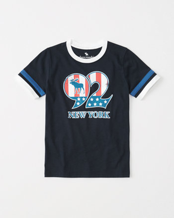 kids americana ringer graphic tee