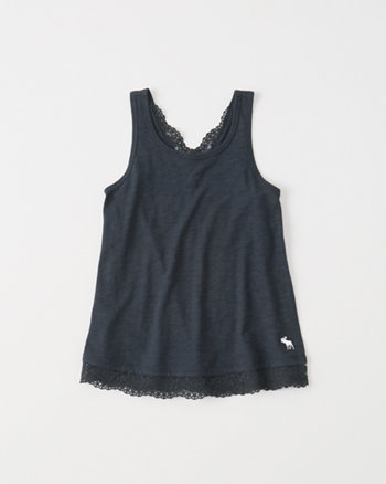 kids Lace Back Tank