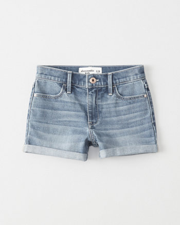 kids High-Rise Shortie Shorts