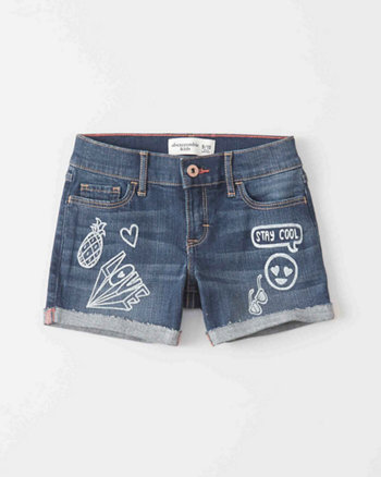 kids Graphic Midi Shorts