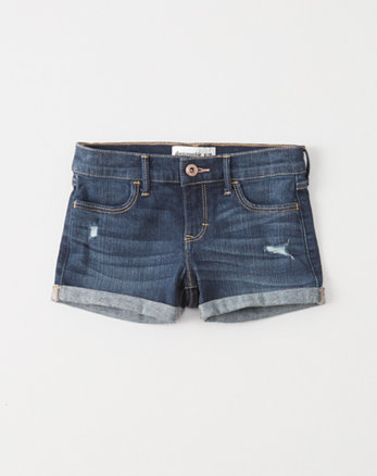 kids Ripped Shortie Shorts