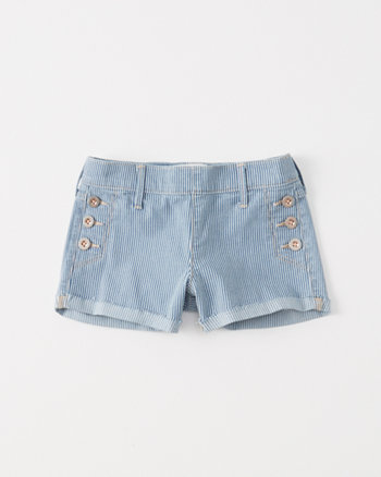 kids Railroad Stripe Shortie Shorts